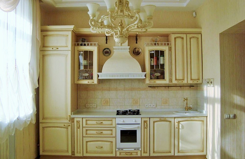 Кухня классика прямая дизайн фото
