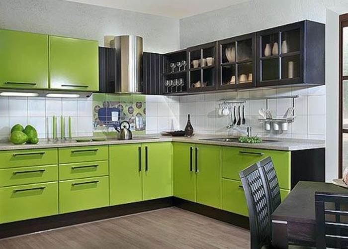 Салатово-желтый кухонный гарнитур фото