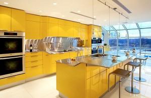 кухни в желтом цвете