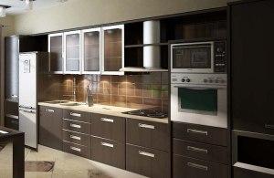 бело коричневая кухня